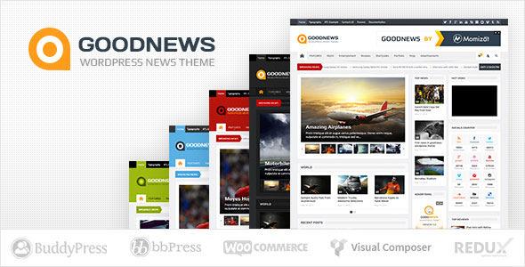تحميل قالب جودنوس  GOODNEWS V5.9.2 أفضل قالب إخباري وردبرس