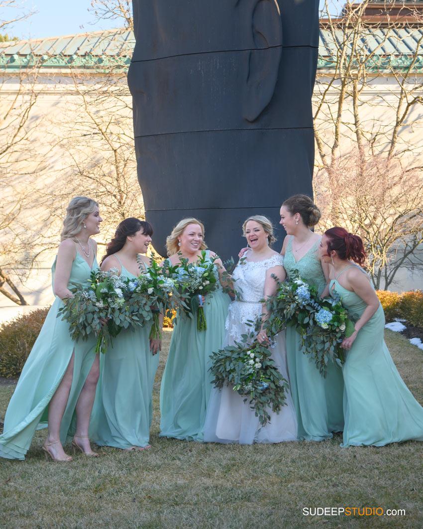 The Venues Toledo Wedding Bridesmaids at Toledo Museum Wedding by SudeepStudio.com Ann Arbor Toledo Wedding Photographer