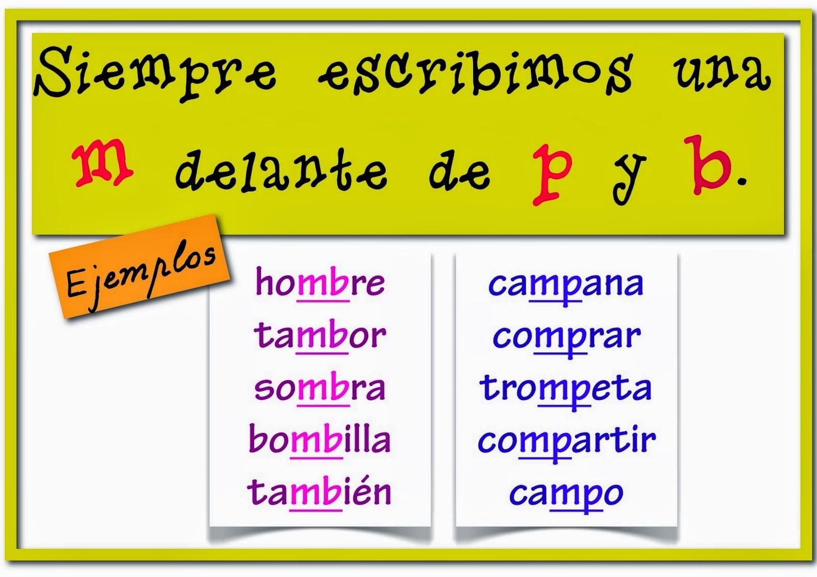Rodr guez mar n 2 de primaria lengua ud 10 palabras con for Mp mb scuola primaria