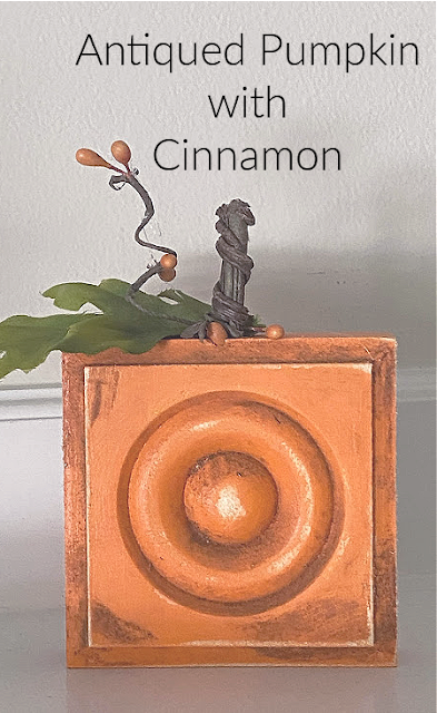 orange block pumpkin with title