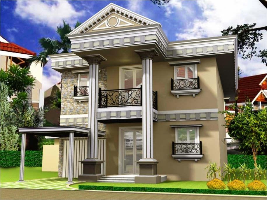 Desain Rumah Mewah 2 Lantai Klasik