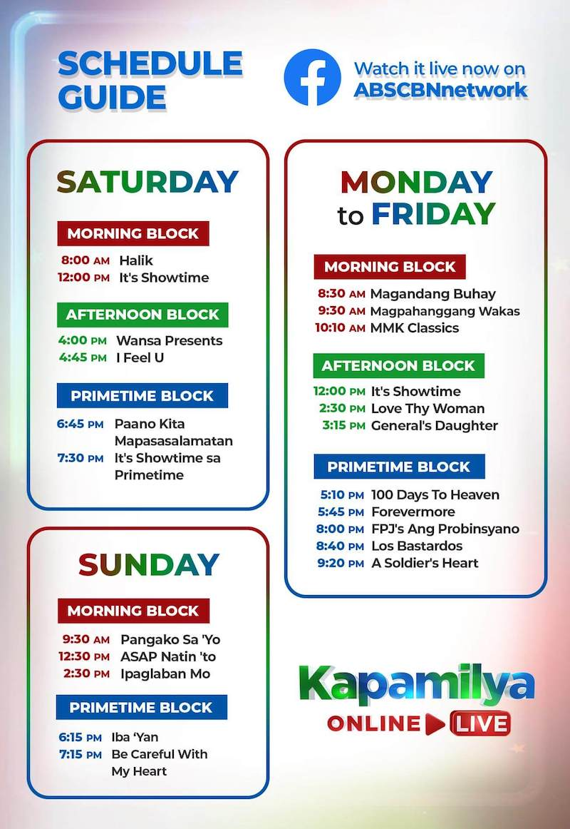 Abs cbn time slot saturday 2018 date