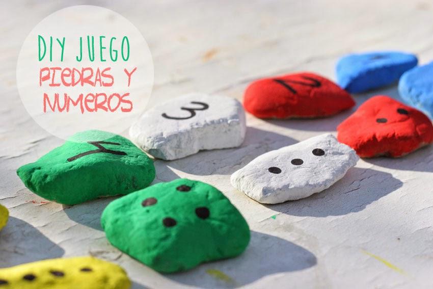 Juego de números con piedras de colores1