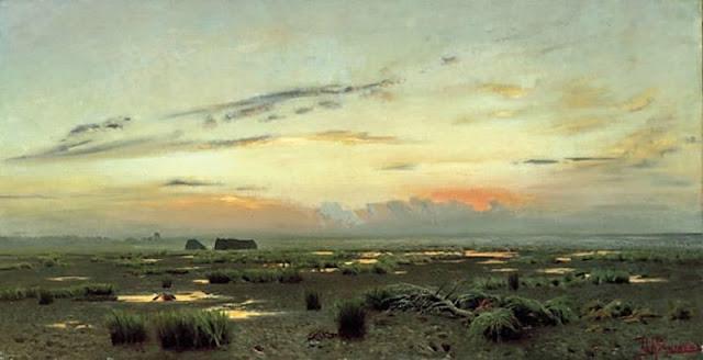Исаак Ильич Левитан - Вечер над болотом. 1882