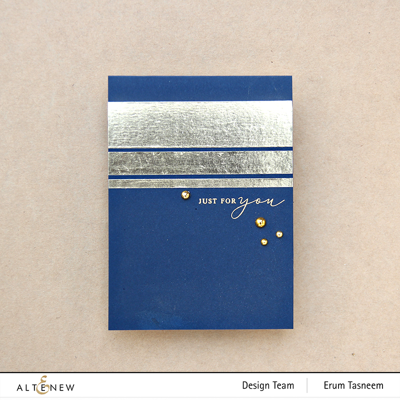 Altenew Gold Foil Washi Tape  | Erum Tasneem | @pr0digy0