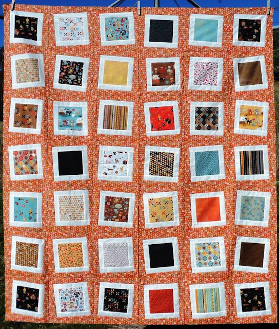 Wonky Squares quilt