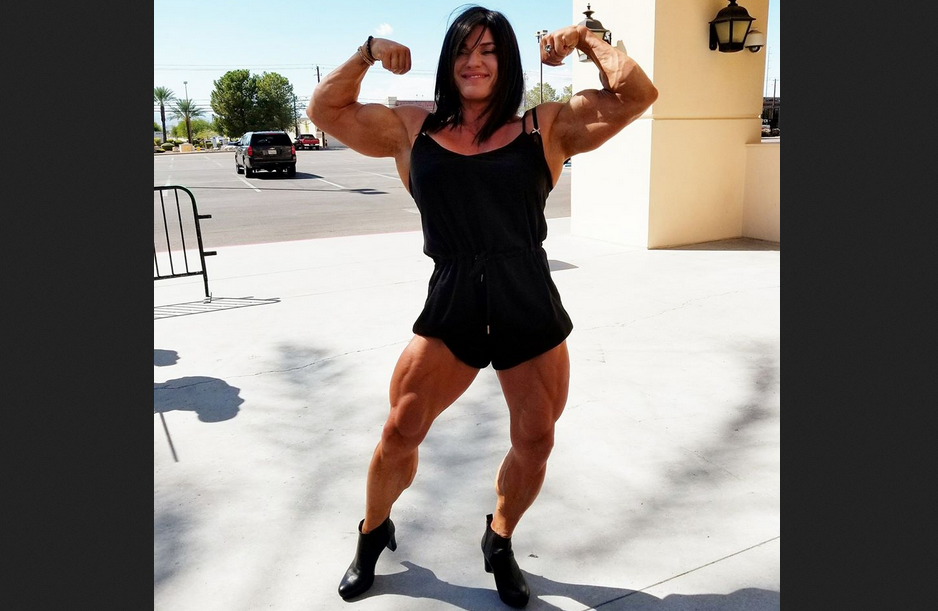 IFBB Pro Helle Trevino Training Arms