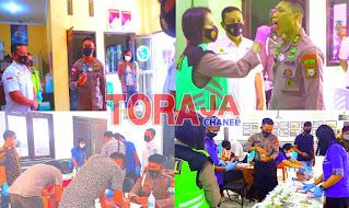 Gandeng BNN, Polres Tana Toraja Gelar Test Urine.