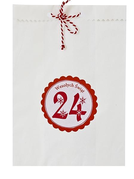 kalendarz adwentowy z torebek