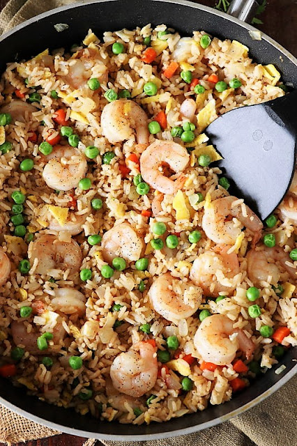 Pan of Skillet Shrimp Fried Rice Image