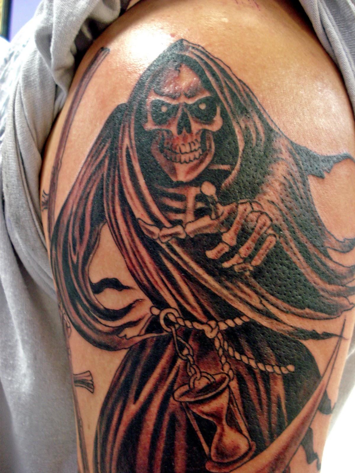 Grim Reaper Back Tattoo: Grim Reaper Tattoos