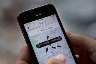 Ilustrasi pemesanan uber