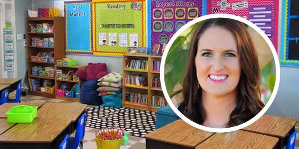 Molly Maloy and her classroom