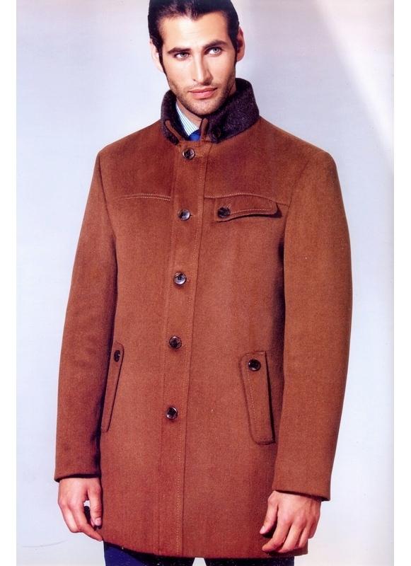 коричневое пальто мужское