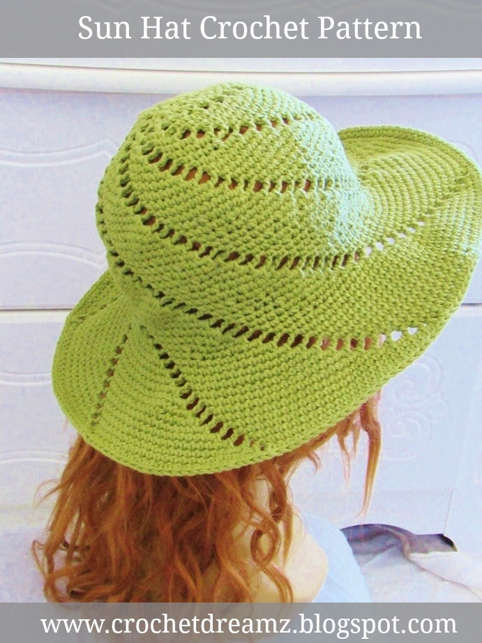 Sunsational Sun Hat Crochet Pattern Crochet Dreamz