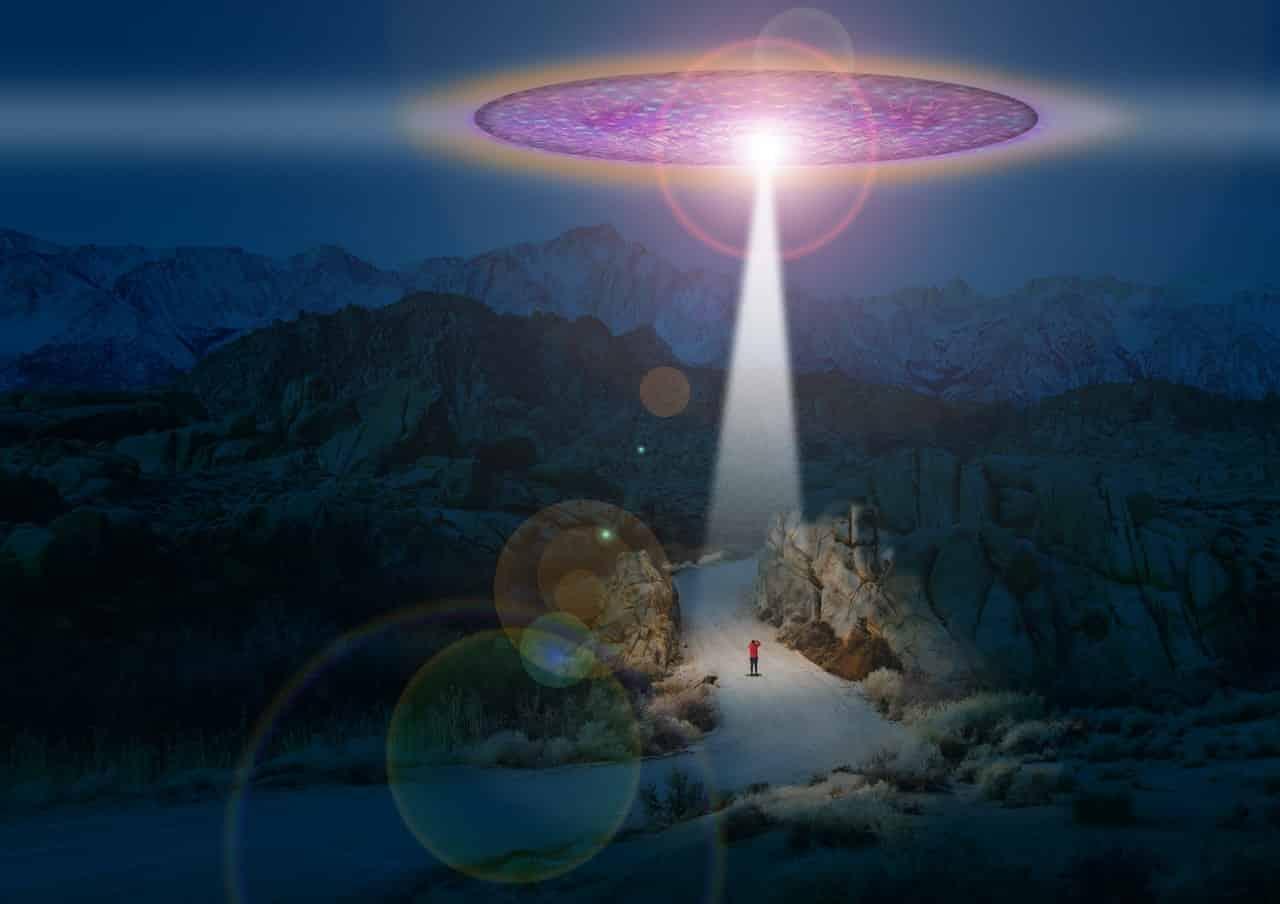 UFOs Seen Revolving In Sky