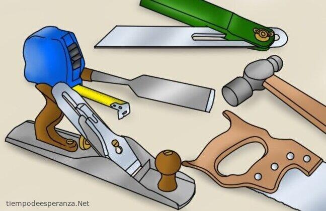 Reflexión de las herramientas de carpintería