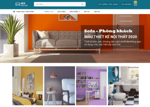Template blogspot bán nội thất