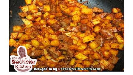 Iranian style fried Beef Liver & Potatoes special Curry  || ইরানিয়ান গরুর কলিজা ভাঁজা এবং আলুর ভুনা।