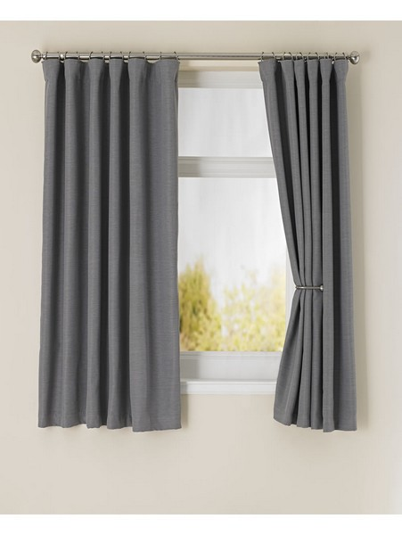 Glamorous blackout grey curtains