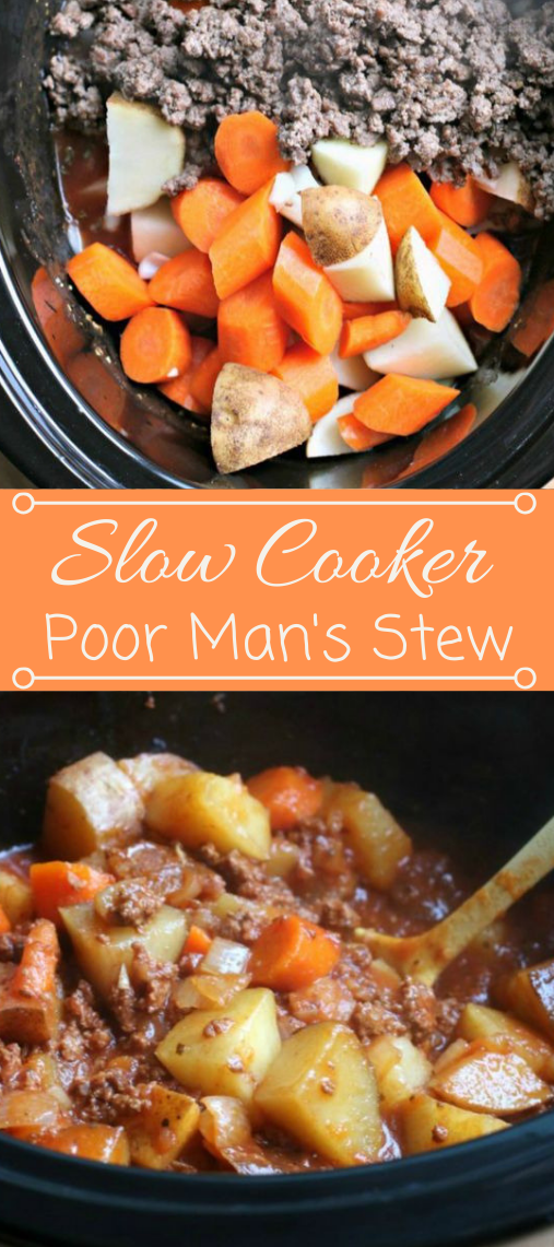Slow Cooker Poor Man's Stew #dinner #vegetarian #familyfood #easy #lowcarb
