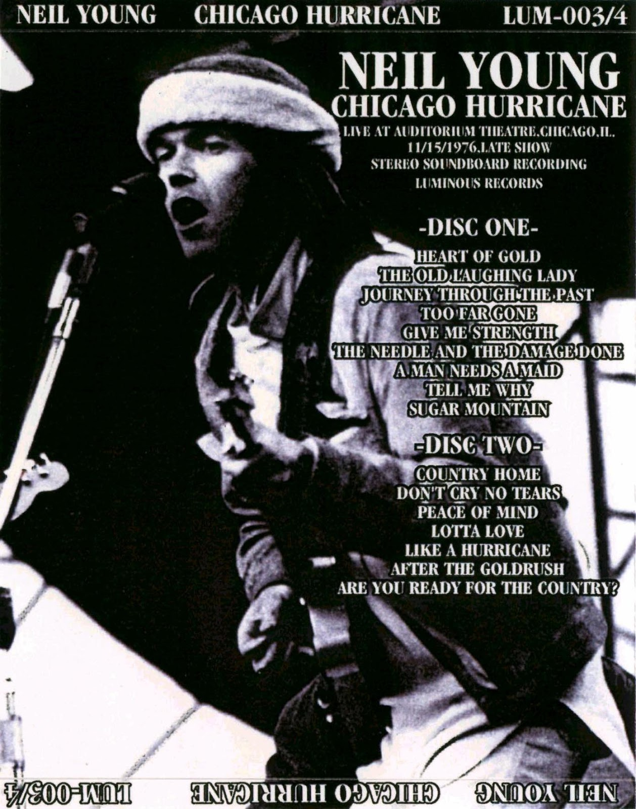 Reliquary: Neil Young [1976.11.15] Chicago Hurricane [SBD]