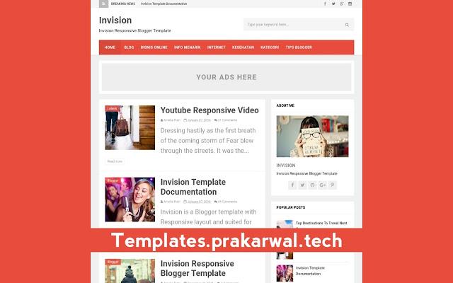 Invision Free Blogger Template