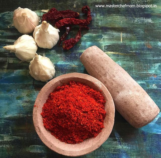 Garlic Chutney Powder for Vada Pav