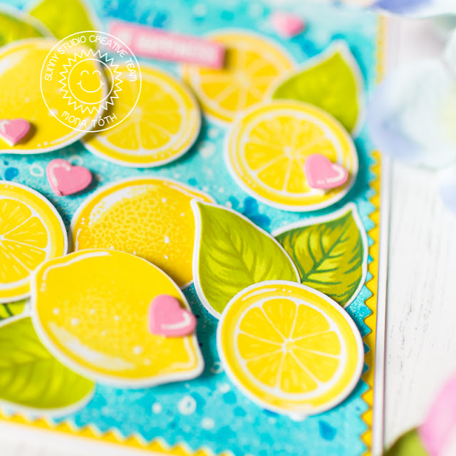 Sunny Studio Stamps: Slice Of Summer Hawaiian Hibiscus Frilly Frames Hello Word Everyday Cards by Mona Toth and Franci Vignoli