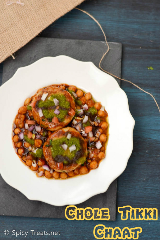 Chole tikki Chaat