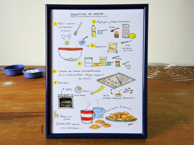 Galletitas de aceite con avena - Illustrated recipe by betitu