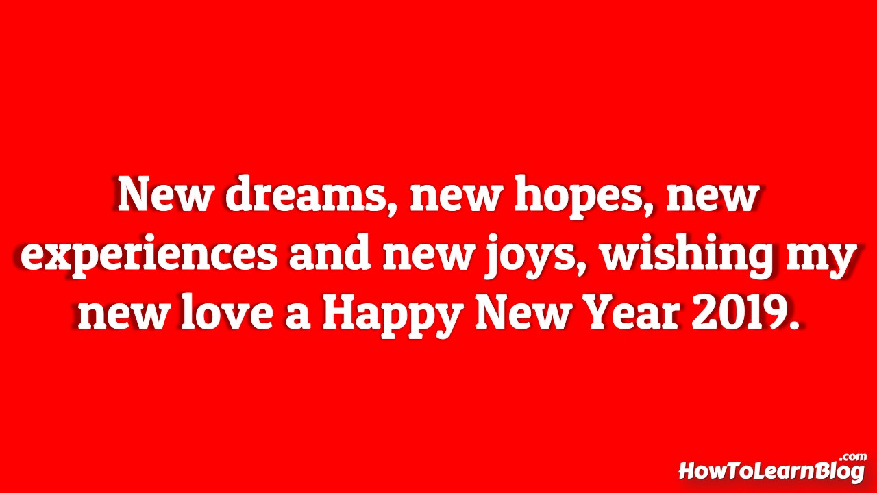 Best wishing image and quotes wallpaper for Happy New Year 2019.