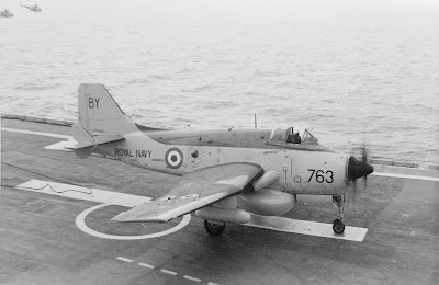Fairey Gannet landed HMS Hermes