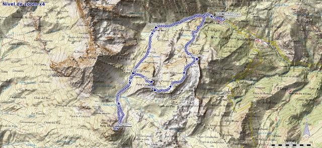 Mapa ruta Tuiza de Arriba, Peña Cerreos y Ubiña Pequeña