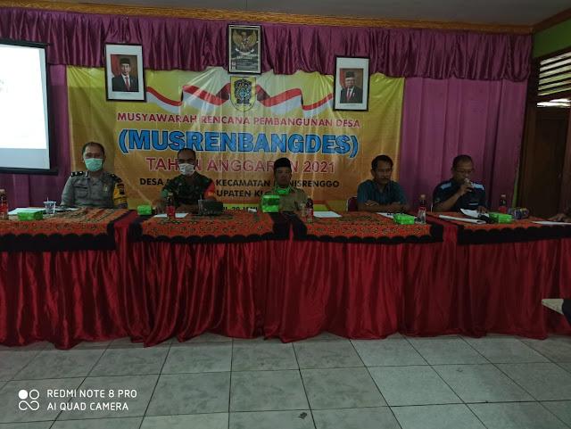 Babinsa Menghadiri Musrenbangdes Kecamatan Manisrenggo