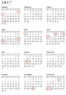 calendar sarbatori legale 2017 in romania,