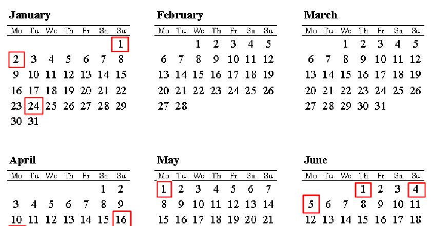 Calendar 2018 Romania Sarbatori Legale