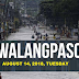#WalangPasok: Class Suspension August 14, 2018, Tuesday