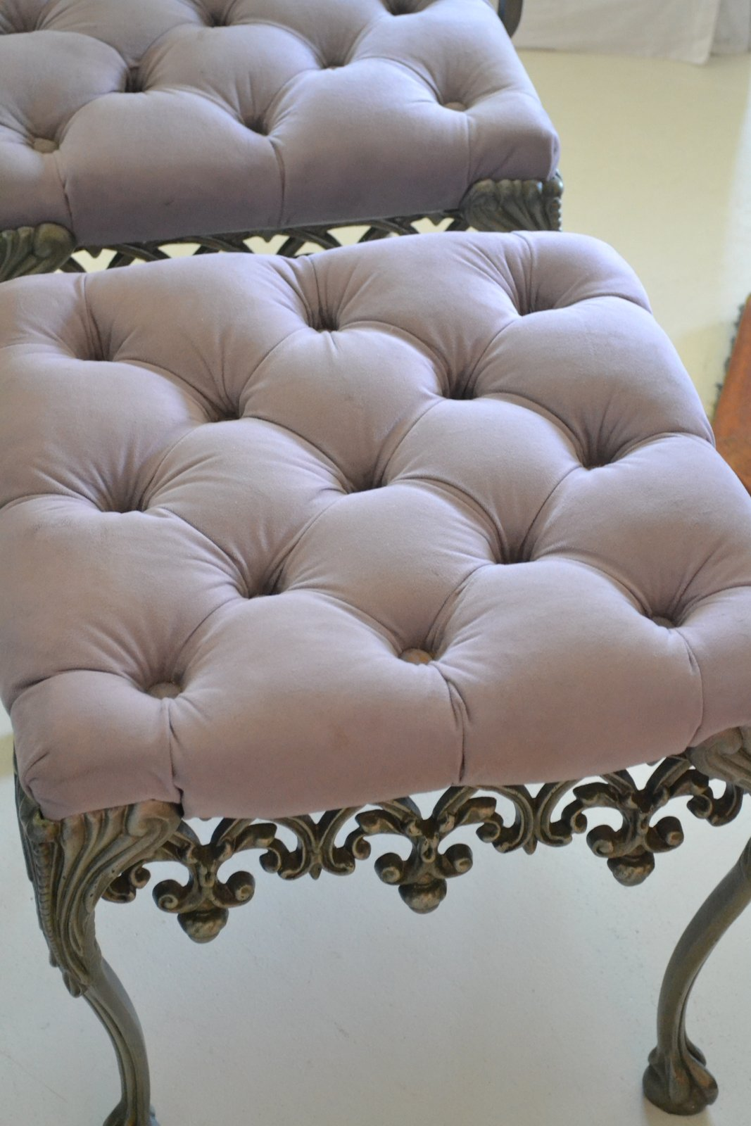French Bedroom Chair And Ottoman
