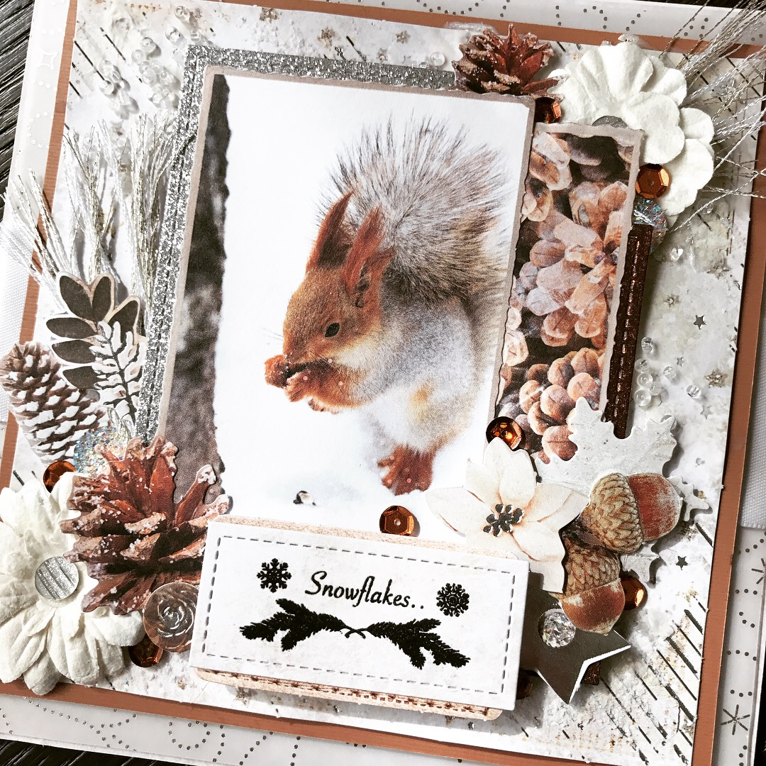 """The Artsy Fox: """"Frozen Forest"""" Mixed Media Card For"""