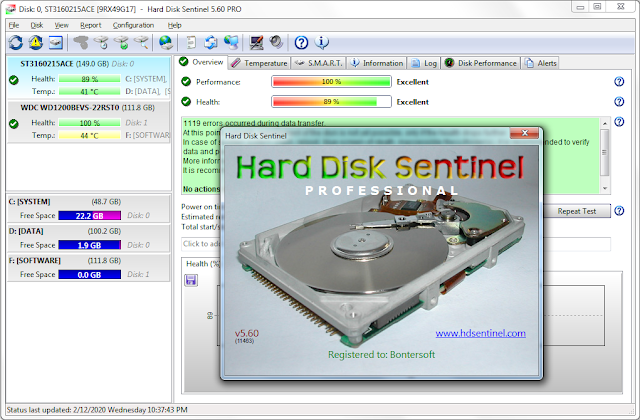 Screenshot Hard Disk Sentinel Pro 5.60.11463 Full Version