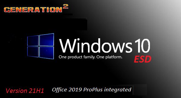 Windows 10 X64 Pro 21H1