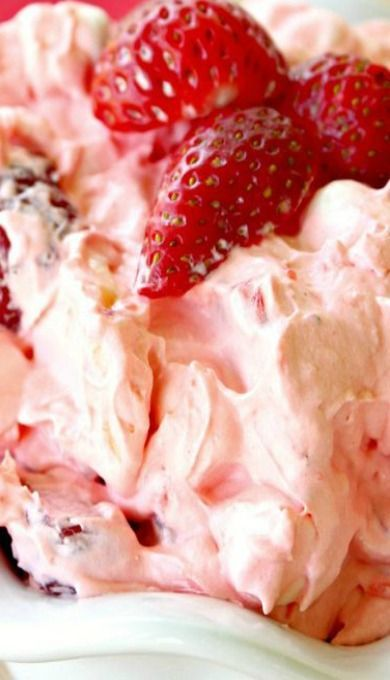 Amazing Strawberry Jello Fluff Salad