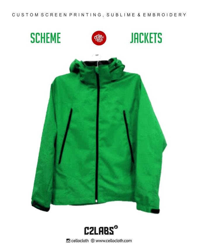 Simple Scheme Jacket Taslan Waterproof Custom in Jogja - Konveksi Jaket