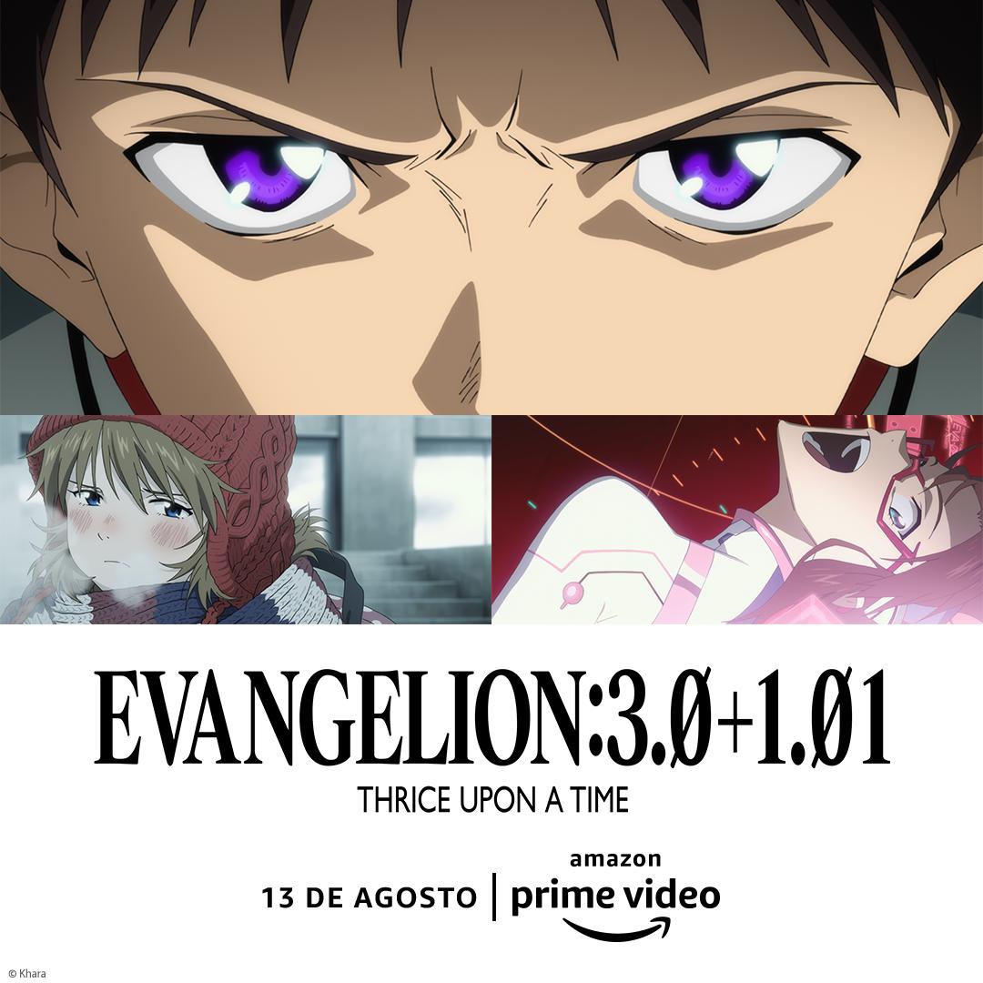 Amazon Prime Video anuncia lançamento de 'EVANGELION3.0+1.01 THRICE UPON A TIME'