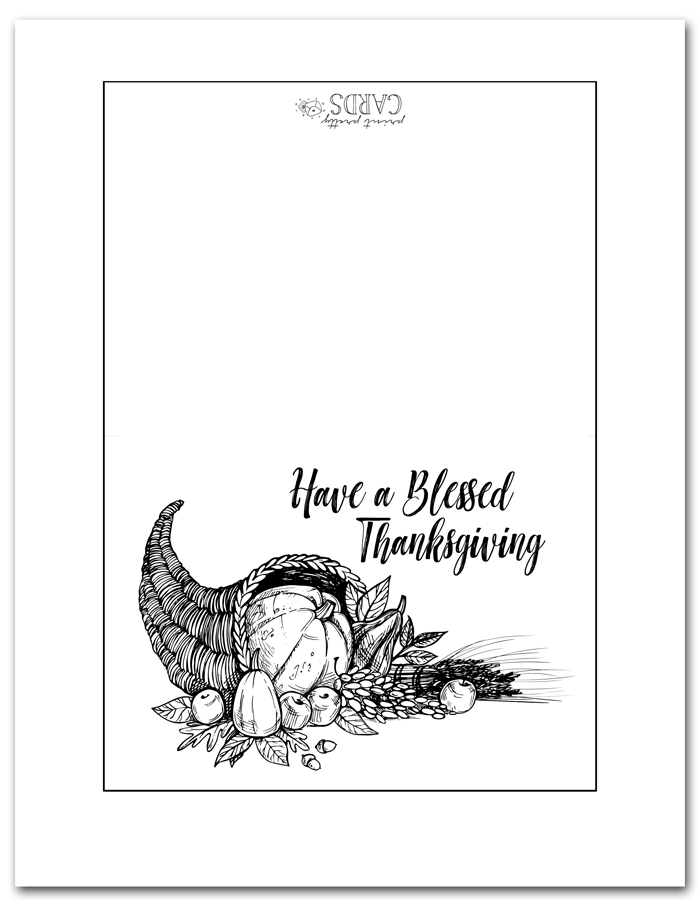 Blessed Thanksgiving Printable Card