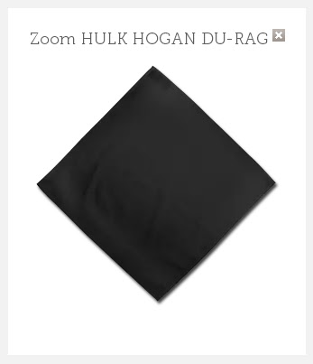 Black bandana as worn by Hulk Hogan in court.  PYGEAR.COM