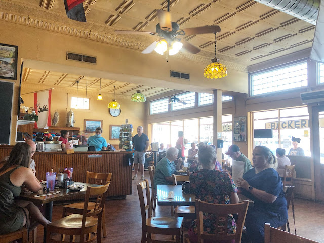 inside the Old German Bakery & Restaurant in Fredericksburg, Texas