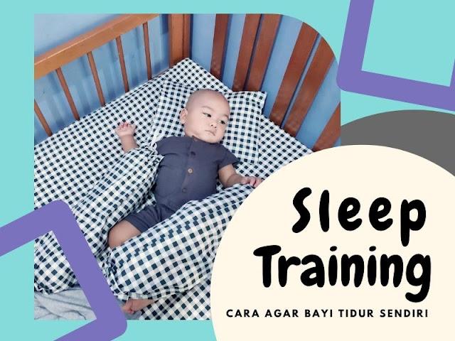 sleep training melatih bayi tidur sendiri matras bayi mamoru