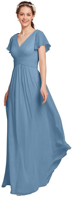 Chiffon Bridesmaid Dresses With Sleeves